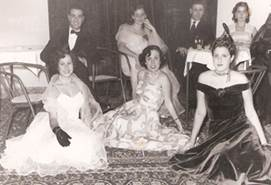 Jewish women in Western dress, evening event at the Italian club (courtesy of my grandmother Laura Baranes)